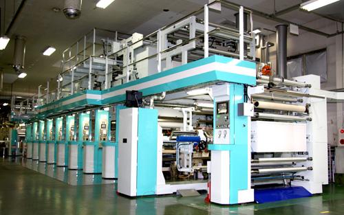 8色グラビア輪転印刷機